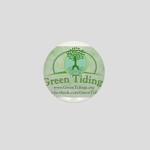Green Tidings Image Mini Button