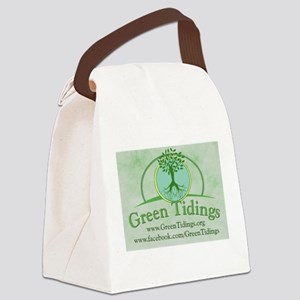 Green Tidings Image Canvas Lunch Bag