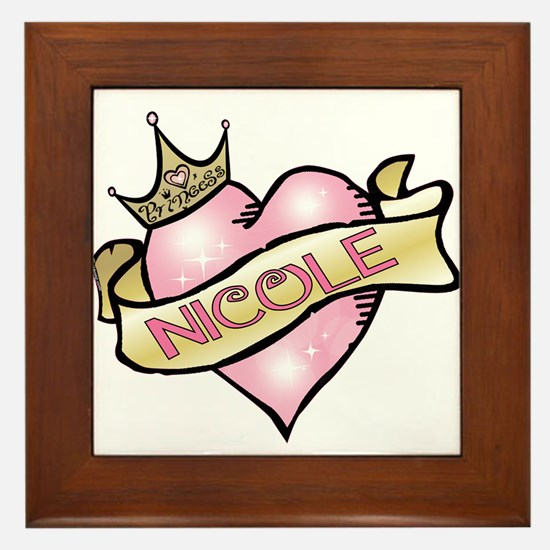 Sweetheart Nicole Custom Princess Framed Tile