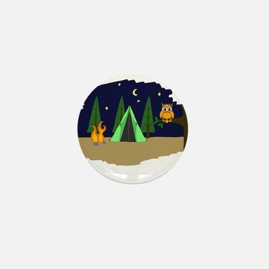 Campsite Mini Button