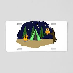 Campsite Aluminum License Plate