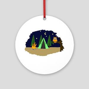 Campsite Ornament (Round)