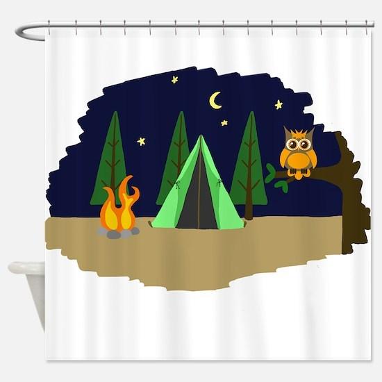 Campsite Shower Curtain