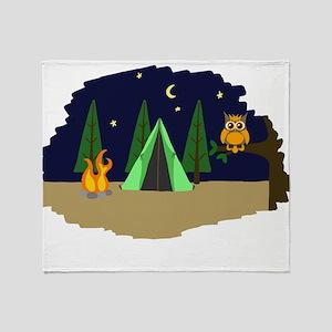 Campsite Throw Blanket