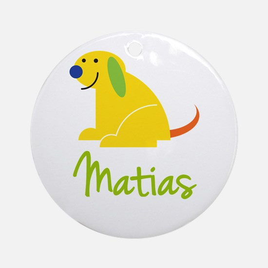 Matias Loves Puppies Ornament (Round)