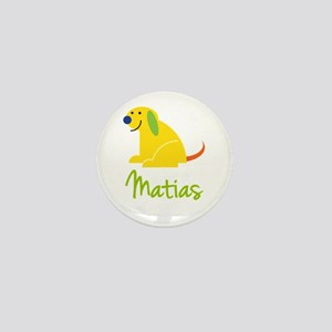 Matias Loves Puppies Mini Button