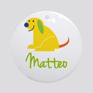 Matteo Loves Puppies Ornament (Round)