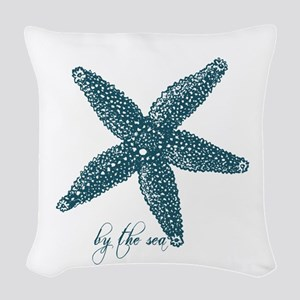By the Sea Starfish Woven Throw Pillow