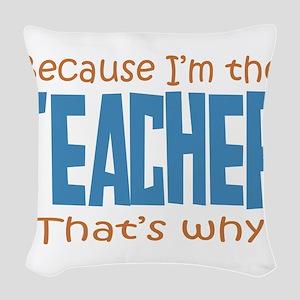 teacher Woven Throw Pillow
