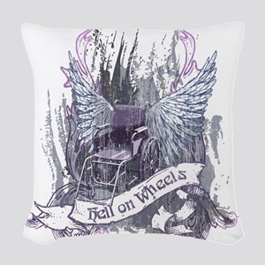 Hell on Wheels Woven Throw Pillow