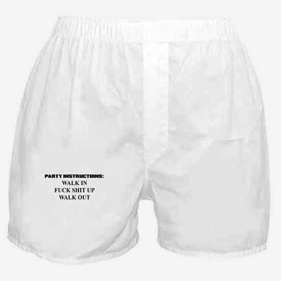 PARTY INSTRUCTIONS Boxer Shorts