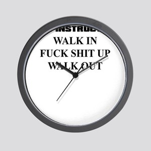 PARTY INSTRUCTIONS Wall Clock
