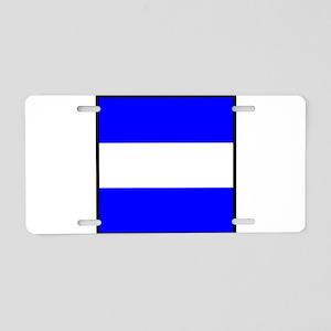 Nautical Flag Code Juliet Aluminum License Plate