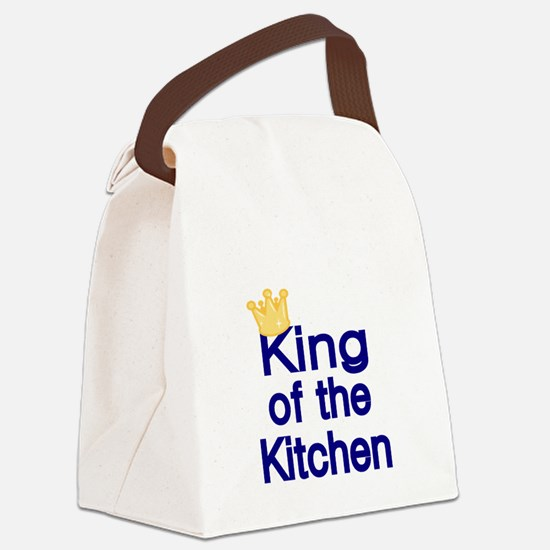 King of the Kitchen Canvas Lunch Bag