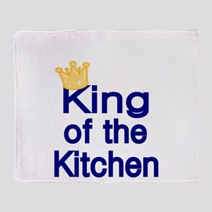 King of the Kitchen Throw Blanket