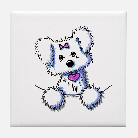 Pocket Maltese Tile Coaster