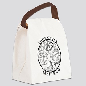 Greyscale EquIn Logo Canvas Lunch Bag