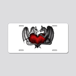 Dragons in Love Aluminum License Plate