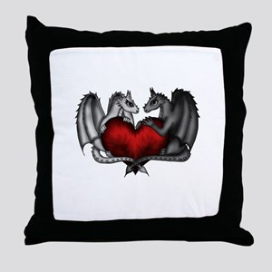 Dragons in Love Throw Pillow