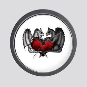 Dragons in Love Wall Clock