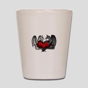 Dragons in Love Shot Glass