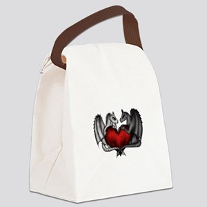 Dragons in Love Canvas Lunch Bag