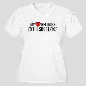 My Heart Belongs To The Shortstop Women's Plus Siz