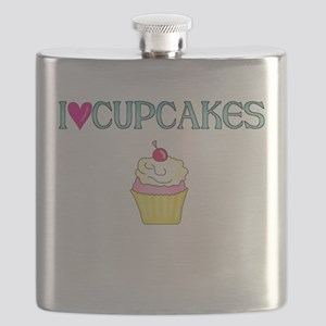 I LOVE CUPCAKES Flask