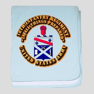 COA - 18th Infantry Regiment baby blanket