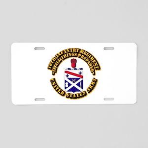COA - 18th Infantry Regiment Aluminum License Plat