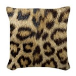 Leopard Print Woven Throw Pillow