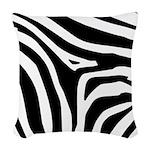 Zebra Woven Throw Pillow