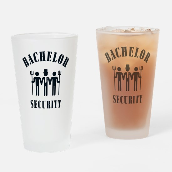 Bachelor Security (Stag Night / Black) Drinking Gl