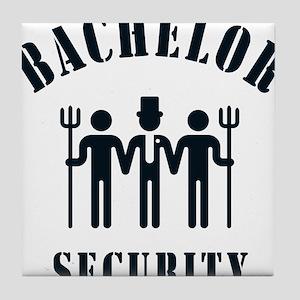 Bachelor Security (Stag Night / Black) Tile Coaste