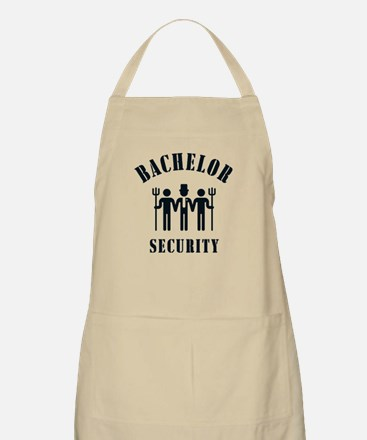 Bachelor Security (Stag Night / Black) Apron