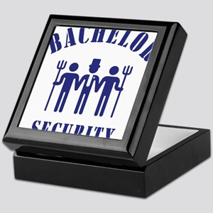 Bachelor Security (Stag Night / Blue) Keepsake Box