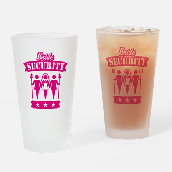 Bride Security (Hen Party / Pink) Drinking Glass