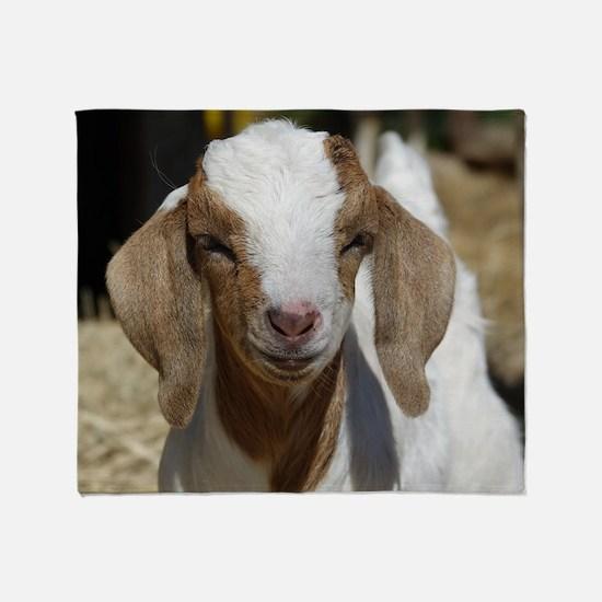 Cute Goats Throw Blanket
