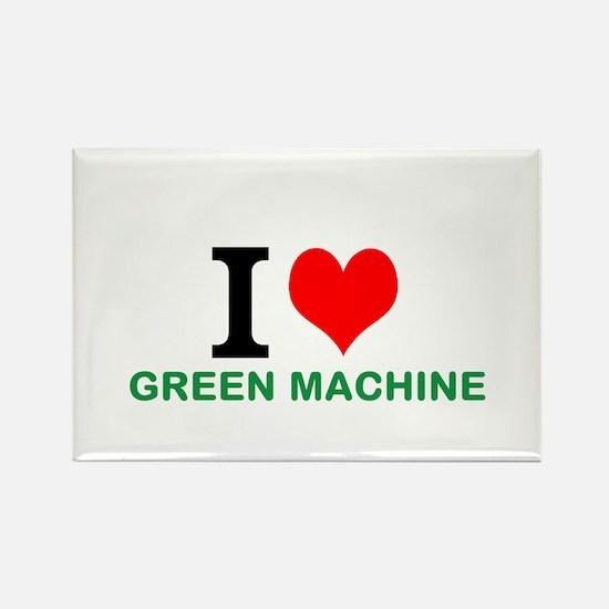 I LUV GREEN MACHINE Rectangle Magnet