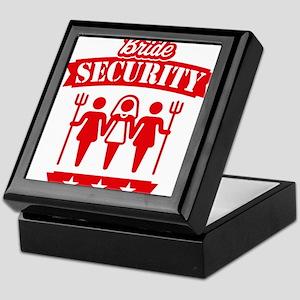 Bride Security (Hen Party / Red) Keepsake Box