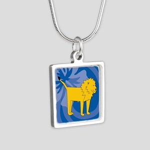 Lion Silver Square Necklace