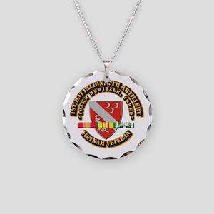 1st Battalion, 7th Artillery Necklace Circle Charm
