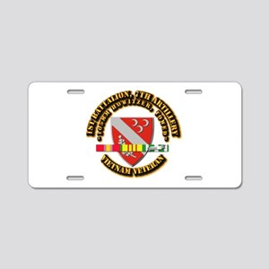 1st Battalion, 7th Artillery Aluminum License Plat