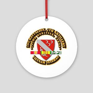 1st Battalion, 7th Artillery Ornament (Round)