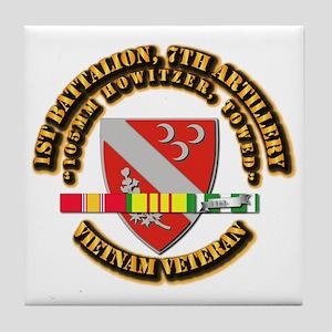1st Battalion, 7th Artillery Tile Coaster