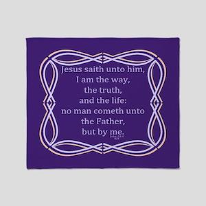 Bible Verse John 14 6 Throw Blanket