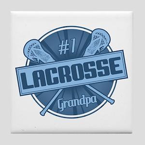 #1 Lacrosse Grandpa Tile Coaster