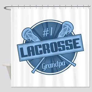 #1 Lacrosse Grandpa Shower Curtain