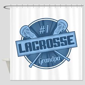 #1 Lacrosse Grandpa Shower Curtain