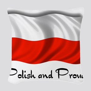 polish and proud2 Woven Throw Pillow